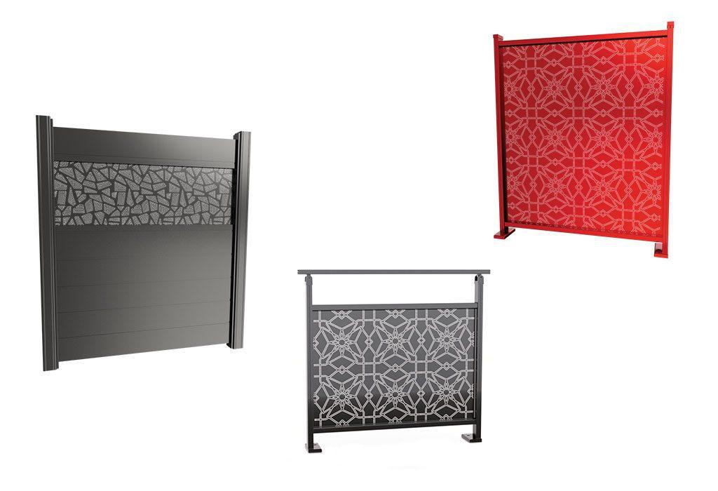 Nouveautés sur l'aluminium (portails, portillon, garde corps, brise vue…)